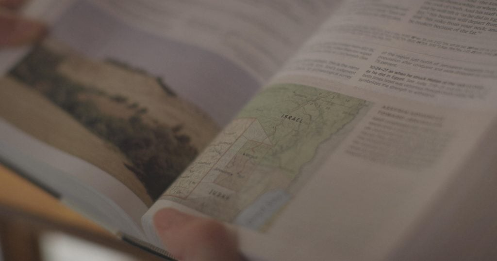 Archaeology Study Bible Open to Map