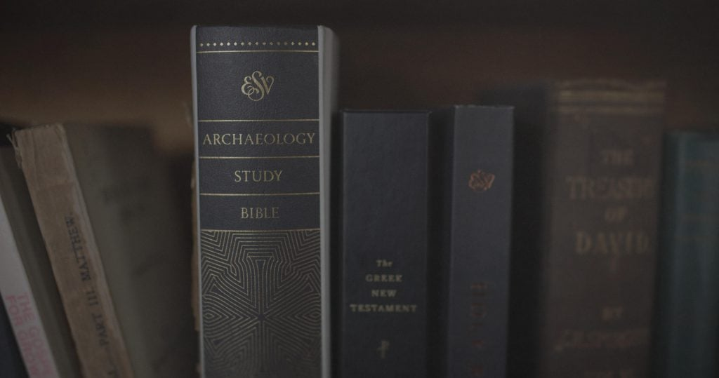 Archaology Study Bible On Shelf