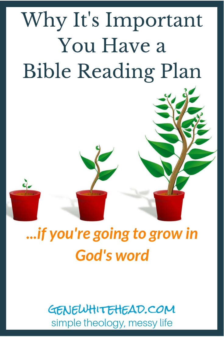 Why it's important to have a Bible reading plan and how having and using one can fuel your spiritual growth through God's word. #bible #biblestudy #faith #christian #biblereading #simpletheologymessylife