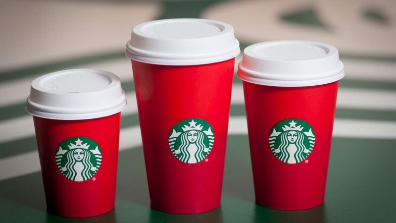 Starbucks, Christmas and Red Cups