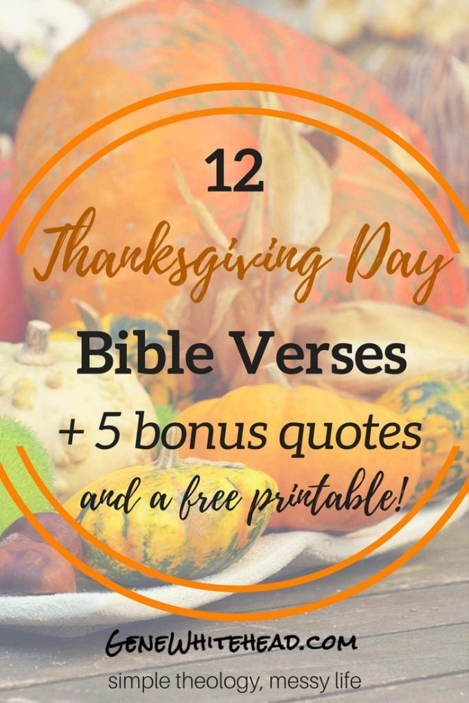 George Washington proclaimed Thanksgiving in 1789 at the request of Congress.Here's more on that, and most importantly, 12 Bible verses on Thanksgiving, 5 quotes from Christian leaders on being thankful, plus a printable for you to take with you! #Thanksgiving #Bible #Printable #Download