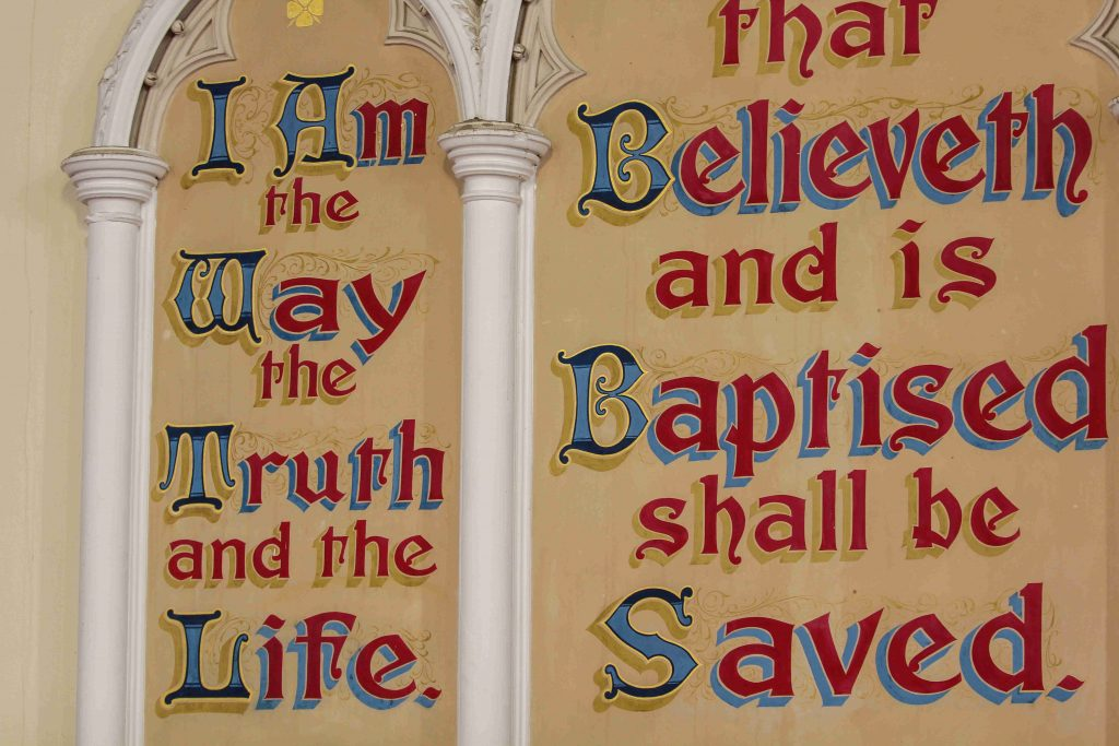 christology-doctrine-of-jesus-christ-church-sign-declaring-i-am-the-way-truth-and-life