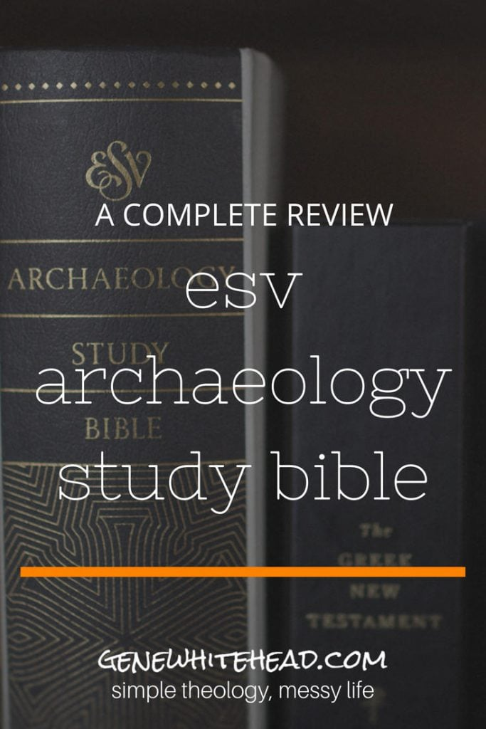 An in-depth review of Crossway's ESV Archaeology Study Bible. Including first impressions, features, studying with this Bible, recommendations, and readability. #bible #biblestudy #faith #books