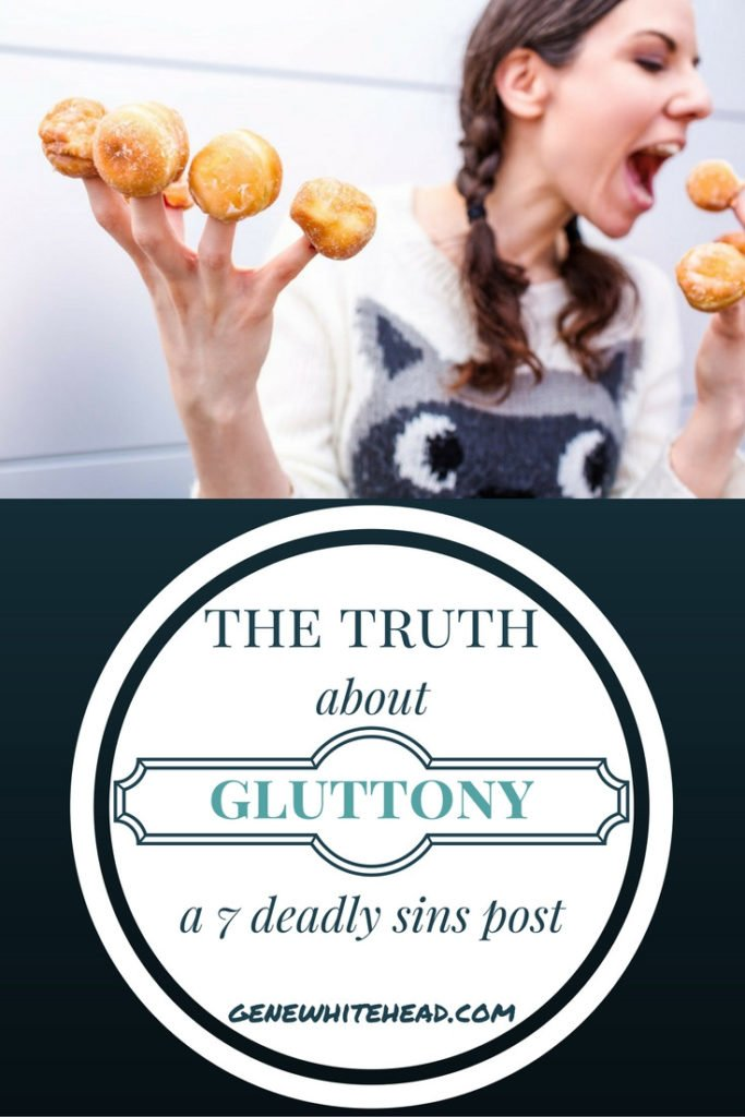 Gluttony is not just about the dinner table. Our spirits can always find something to excessively consume. Here's more on that and how to overcome it. #faith #Bible #sin #gluttony