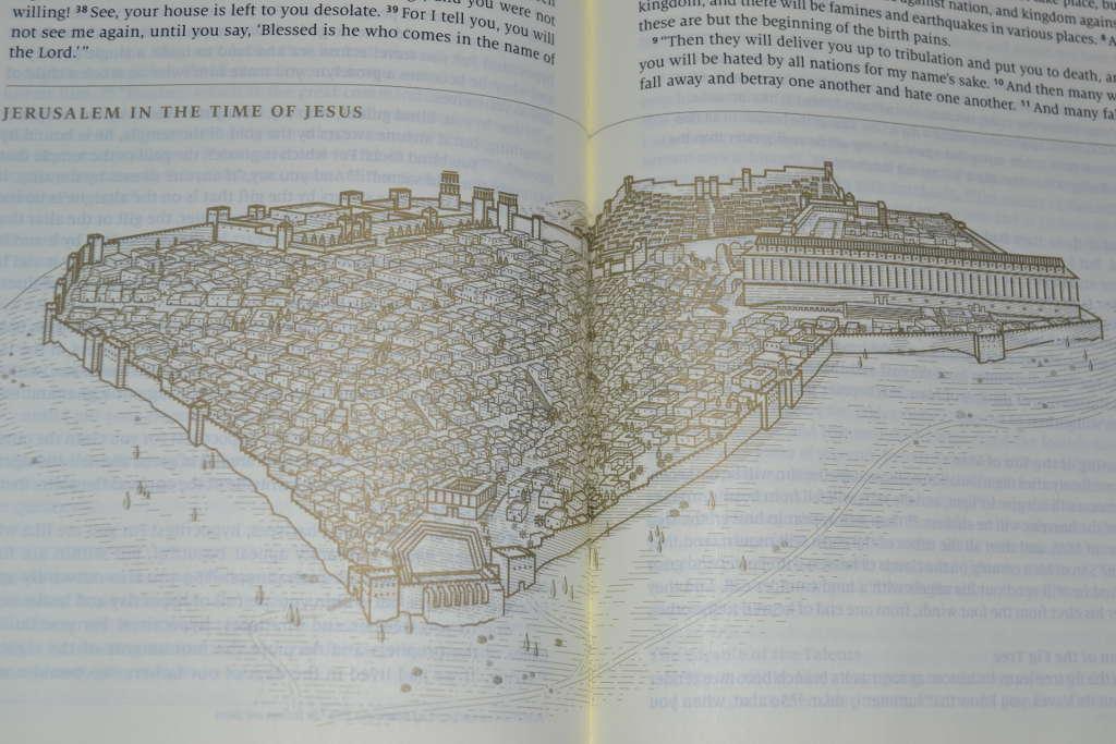 Story of Redemption Bible illustration of Jerusalem in Jesus time