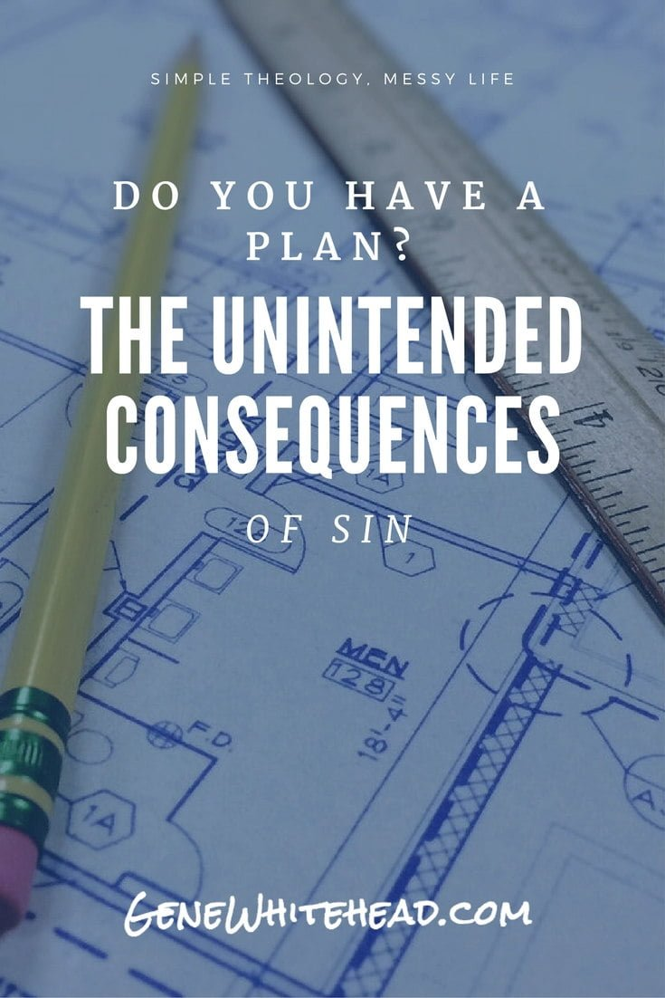 The unintended consequences of sin bring a hefty price to our lives. But great news...there is a plan to win against the unintended consequences and the power of sin! Here is your battle plan to overcome sin in your life. #sin #faith #devotional #biblestudy